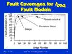 fault coverages for i ddq fault models