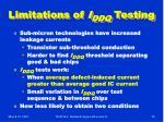 limitations of i ddq testing