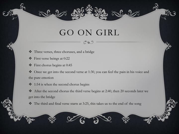 Go on girl