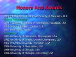 honors and awards1