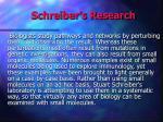 schreiber s research