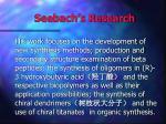 seebach s research