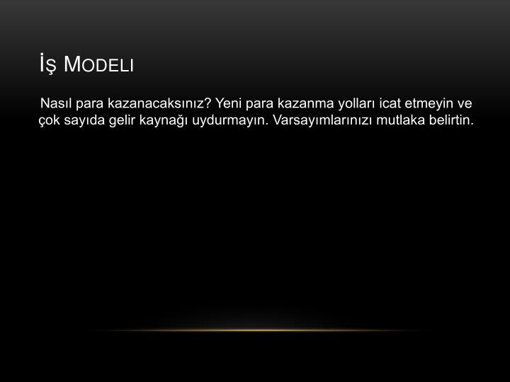 İş Modeli