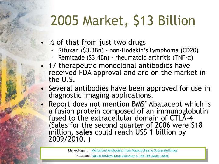 2005 Market, $13 Billion