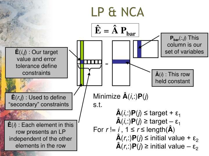 LP & NCA