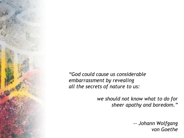 """""""God could cause us considerable"""