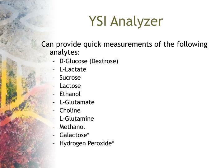 YSI Analyzer