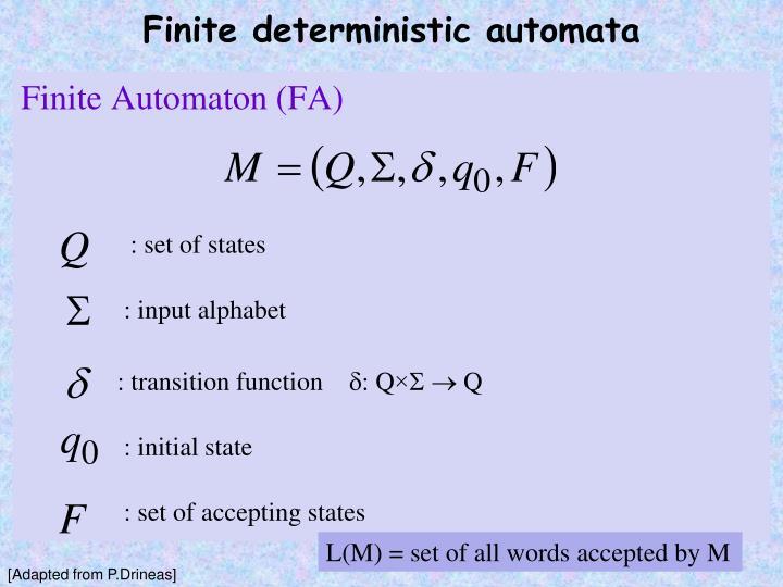 Finite deterministic automata1