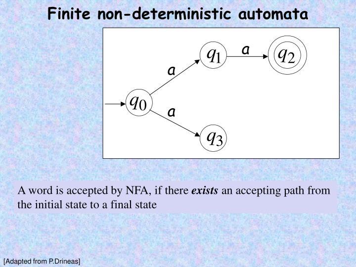 Finite non-deterministic automata