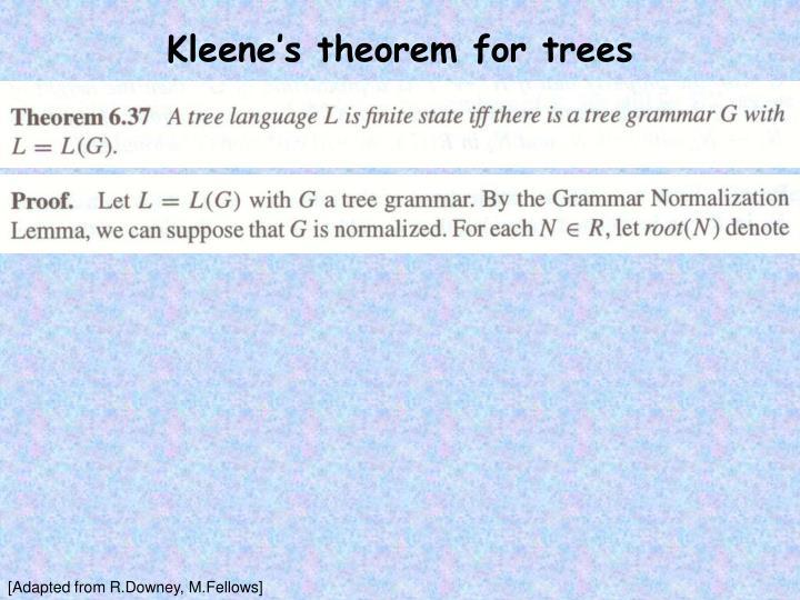 Kleene's theorem for trees
