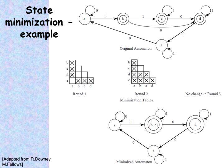 State minimization - example