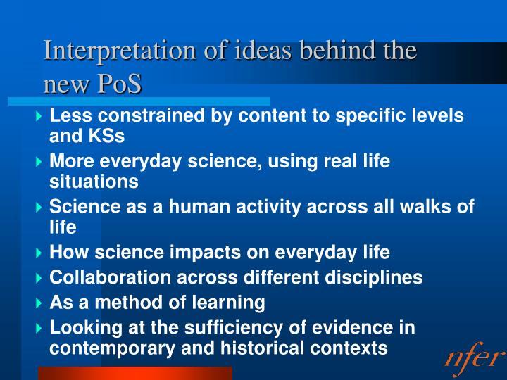 Interpretation of ideas behind the new pos