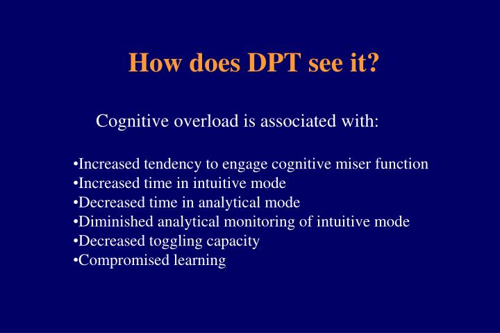 How does DPT see it?
