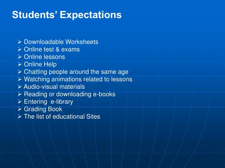 Students' Expectations