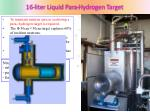 16 liter liquid para hydrogen target
