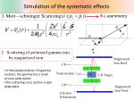 simulation of the systematic effects