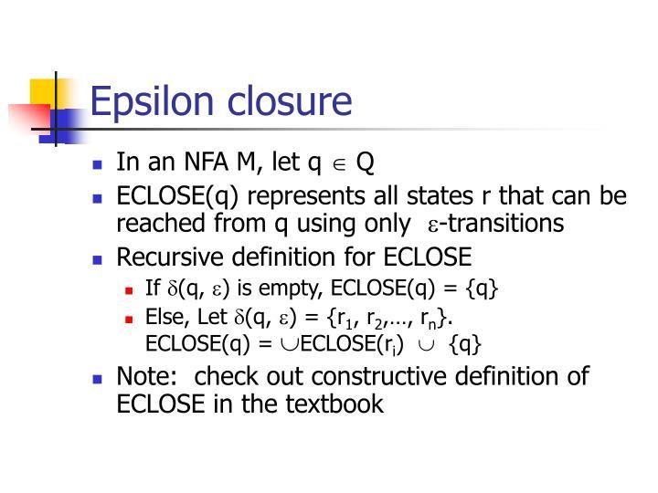Epsilon closure