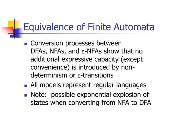 Equivalence of Finite Automata