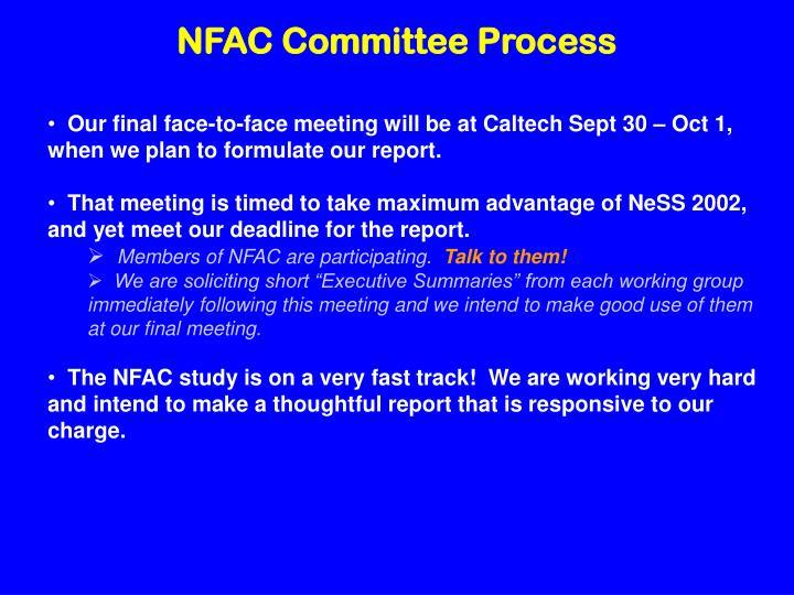 NFAC Committee Process