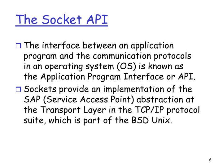The Socket API