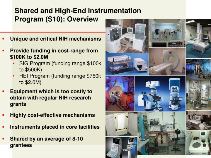 Shared and High-End Instrumentation