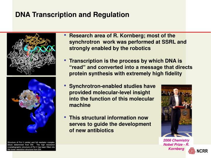 2006 Chemistry Nobel Prize - R. Kornberg