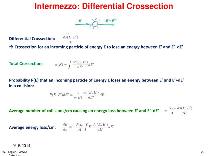 Intermezzo: Differential Crossection