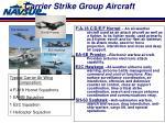 carrier strike group aircraft