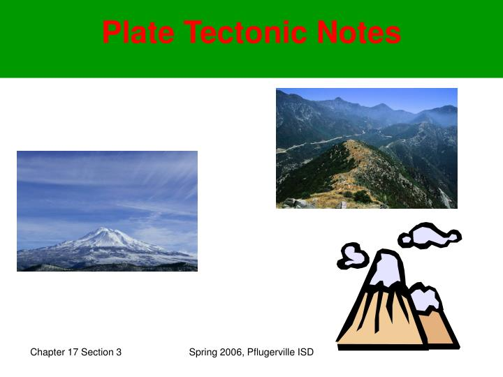 plate tectonic notes n.