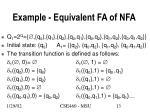 example equivalent fa of nfa