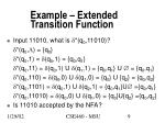 example extended transition function