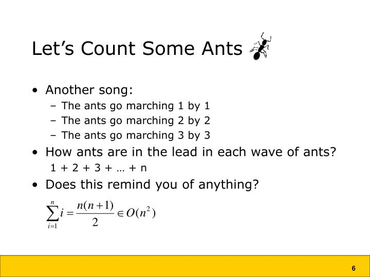 Let's Count Some Ants