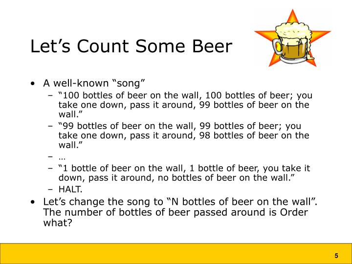 Let's Count Some Beer