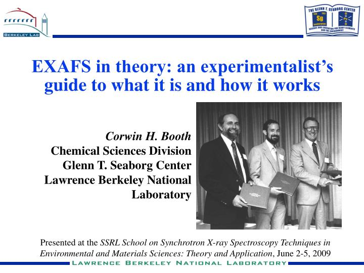 exafs in theory an experimentalist s guide to what it is and how it works n.