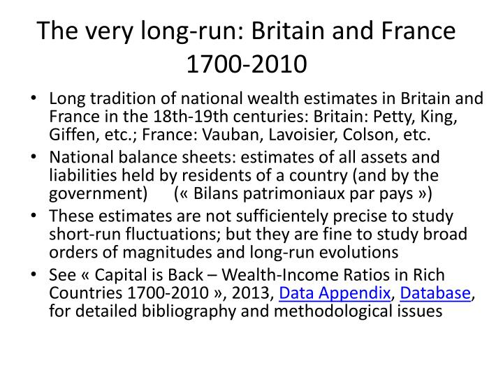 The very long run britain and france 1700 2010