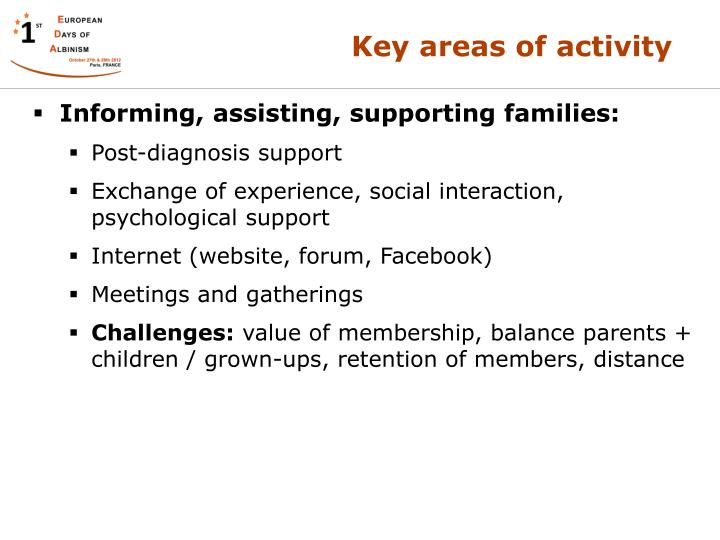 Informing, assisting, supporting families:
