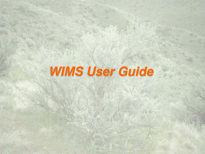 wims user guide n.