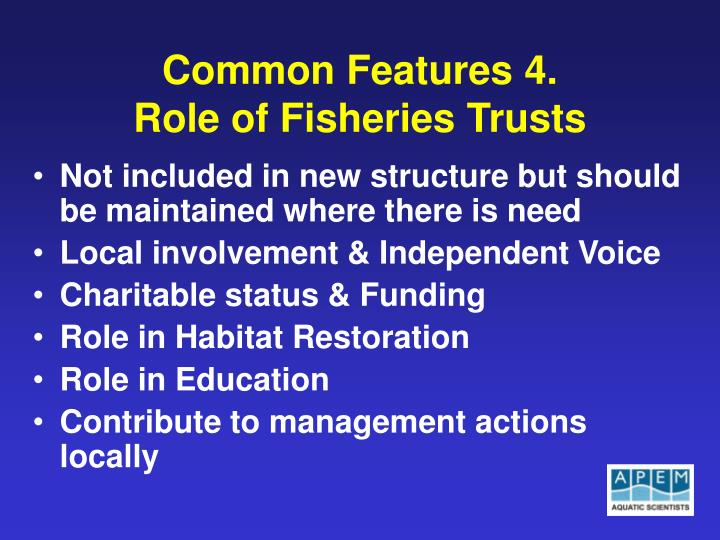 Common Features 4.