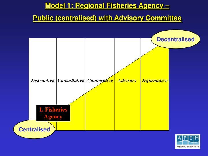 Model 1: Regional Fisheries Agency –