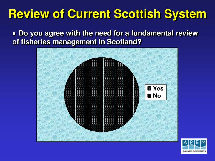 Review of Current Scottish System