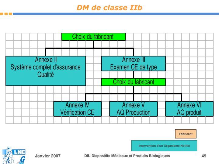 DM de classe IIb