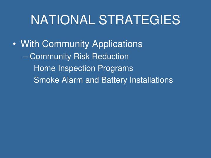 National strategies