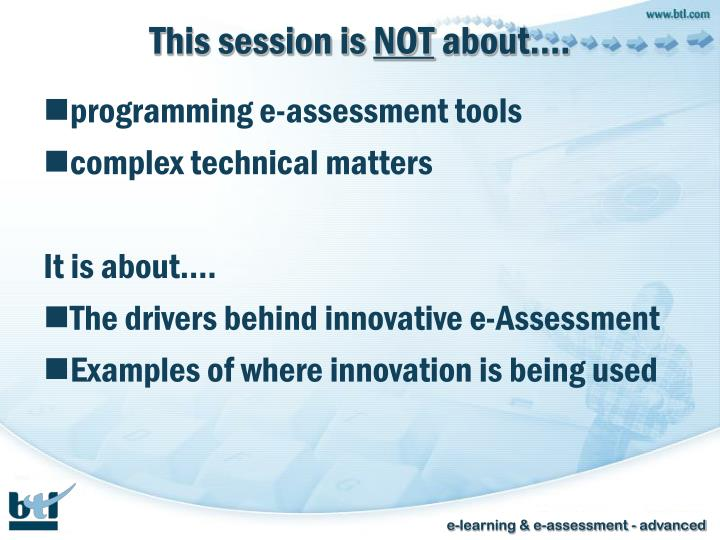 This session is not about