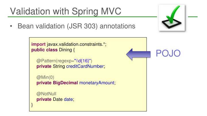 Validation with Spring MVC