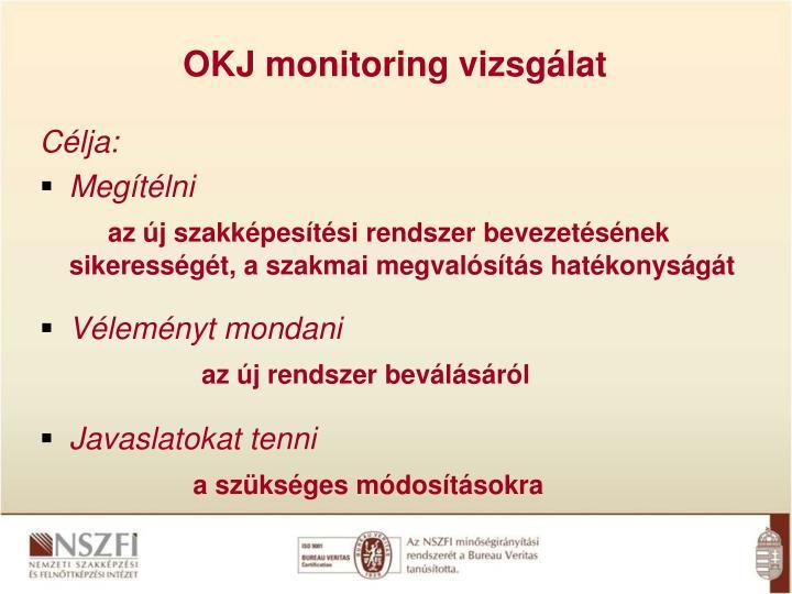 OKJ monitoring vizsgálat