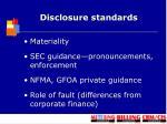 disclosure standards1