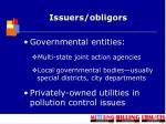 issuers obligors