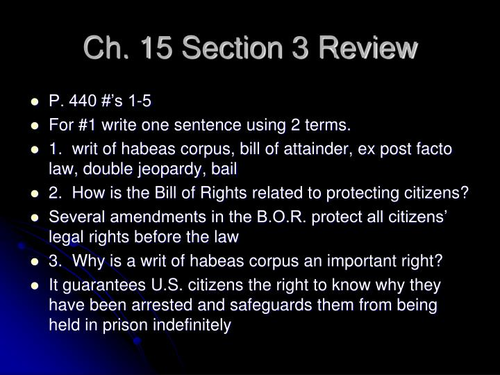 Ch. 15 Section 3 Review