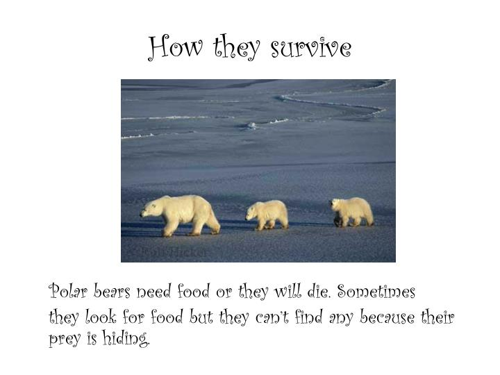 How they survive