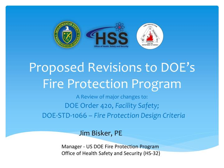 proposed revisions to doe s fire protection program n.